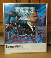SEAGRAM'S 7 VINTAGE HOCKEY SIGN MONTREAL CANADIENS FIRST STANLEY CUP WINNERS
