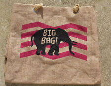 Big Reusable Jute Elephant Bag Holiday Shopping Beach Extra Large Strong Durable