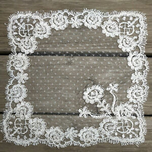 Lace Square Embroidery Table Cover Dining Doily Cover Floral Party Home Decor