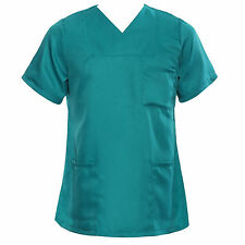 Medical Nursing Men Women Scrub Top Hospital Nurse Clinic Uniform Shirt