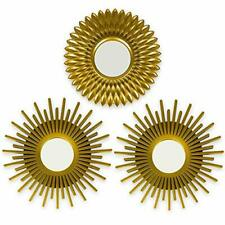 Gold Mirrors for Wall Pack of 3 - BONNYCO | Wall Mirrors for Room Decor & Home D