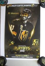 Vegas Golden Knights vs Sharks  SECOND ROUND GAME #1 MARCHESSAULT POSTER