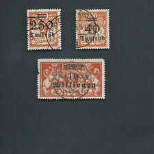 Danzig Germany Rare Lot Used Michel 158, 160, 168 VF CV 800 Euros Cat Freimarken