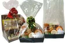 Clear Cellophane Gusseted Display Bags - Gift Hamper Basket Wrapping Packaging