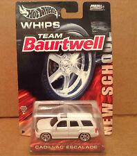 Hot Wheels Whips Team Baurtwell white Cadillac Escalade van 1:64 diecast NEW