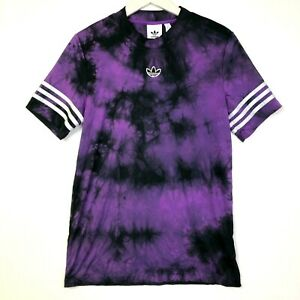Adidas mens space dyed tie dye jersey purple black size small