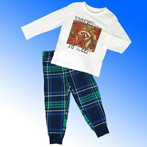 Boys Cotton Pyjamas Store Group rrp £10-14 Cute Raccoon Family  2-13 Years