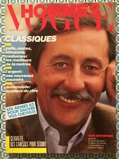 VOGUE HOMMES 62 Sept 1983 Jean Rochefort Mode Pulls Vestes Blousons Costumes