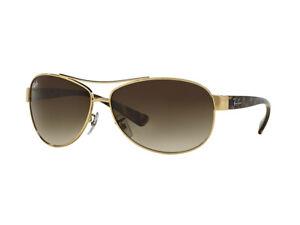 Sonnenbrille Ray Ban RB3386 HIGHSTREET Gold braun gradient 001/13