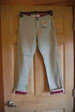 Levi's 508 Taper Jeans, Boys Size 12 Reg Tan Pants 26X26, NWT