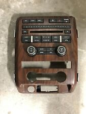(TM300) 09 10 FORD F150 RADIO CONTROL PANEL AUDIO CLIMATE TRIM BEZEL WOOD