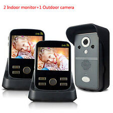 3.5''Video Wireless Camera citofono 2monitor dell'interno &1macchina fotografica