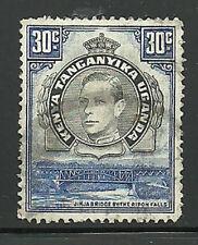 Album Treasures Kenya, Uganda, Tang. Scott # 76a 30c George VI Jinja Bridge VFU