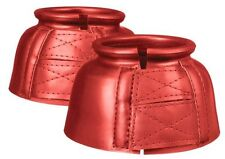 Performers First Choice medium red pro guard bell boots horse tack equine