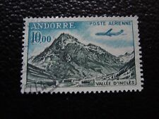 ANDORRE (francais) -timbre yvert et tellier aerien n° 8 obl (A33)stamp andorra(A
