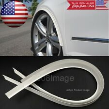 "2 Piece 47"" White Arch Wide Body Fender Flares Extension Lip Guards For BMW AUDI"