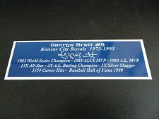 George Brett Nameplate Kansas City Royals Autograph Photo Bat Hat Jersey