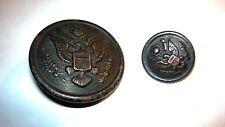 "Antique Early1900s Copper American Great Seal Button New York ""City Button Works"