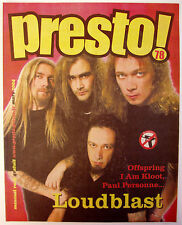 Revue PRESTO! n°78 mars 2004 Loudblast, Offspring, LTno, Tété, Murat, CannedHeat