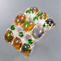 Black Opal Ring Silver 925 Sterling Women Jewelry Fashion Size 8 /R135511