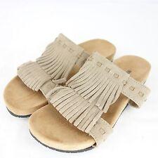 MINNETONKA chaussures sandale Daisy 36 taupe cuir daim pour femmes été NP 85