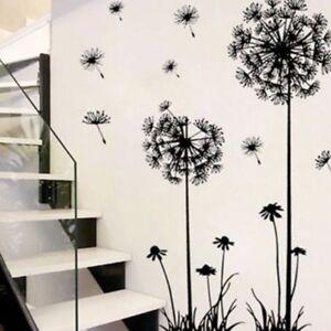 Flower Dandelion Wall Art Decal Sticker Removable Mural PVC Vinyl Home Decor