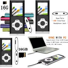 Portable MP3 MP4 Player Black 1.8 Inch Screen User Friendly 16GB Micro SD Card