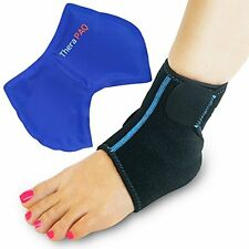 Foot & Ankle Ice Wrap with Hot & Cold Gel Pack | Adjustable, Multi-Purpose, and