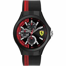 Ferrari Scuderia GranPremio Chronograph Multi Dial Silicone Strap Analogue Watch
