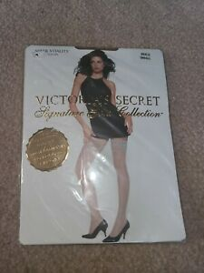 Victoria's Secret Stockings Sheer Vitality Stay Ups Signature Gold Collection SM