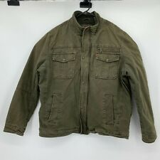 Levi's Field Jacket Men's Size 2XL Dark Green Insulated Light Puffer Long Sleeve