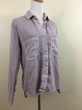 Cloth & Stone Anthropologie Womens S Small Purple/Gray Cut Out Back Button Shirt