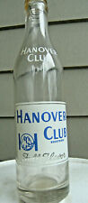 HANOVER CLUB 8 oz. soda bottle. ACL West Hanover, Mass.  1950  WOW!