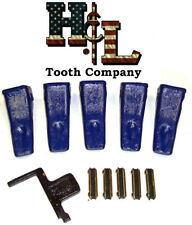 230CLAW FORGED in USA Bucket Teeth Kit + Flexpins® (5 Pack) by H&L Tooth Company