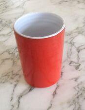 Ceramique  vintage  Poterie de la Brague Placastier de Grasse email rouge/ blanc