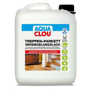 Aqua Clou Treppen- und Parkett Lack Versiegelungslack 5,0 Ltr.