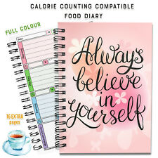 Food Diary Calorie Counting Wellbeing Plan Log Journal Book Notes Fitness Diet