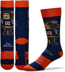 NFL Chicago Bears Da Bears Mascot Staley Dress Socks Mens Boys 3 Sizes Available
