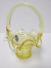 4506Y8 - Fenton 5'' Rings Basket in Buttercup