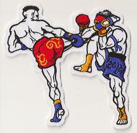 Patch écusson patche Muay Thai boxers medium high kick thermocollant