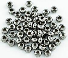 Edelstahl Metall Perlen Kugel Spacer Zwischenperle rund silber DIY 5mm - FK00076