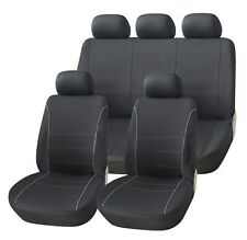 SMART FORTWO COUPE 07-ON BLACK SEAT COVERS WITH GREY PIPING