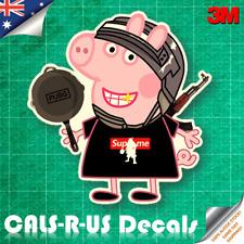 Peppa Supreme Pig Cartoon Sketch Skateboard Luggage Car 3M Vinyl Decal Sticker