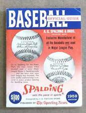 THE SPORTING NEWS TSN MLB BASEBALL GUIDE - 1959