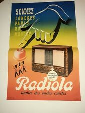Affiche Ancienne Originale RADIOLA.