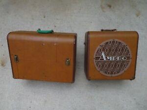Vintage Ampro 16mm Premier 20 Film Projector Speaker Setup