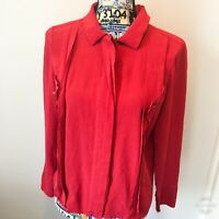 Karl Lagerfeld Vintage Blouse Size 38 Small 100% Silk Made In France Button Top