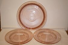 Queen Mary pink (2) Dinner Plates and (1) Sandwich Plate