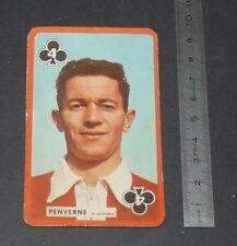 FOOTBALL CARTE PHOTO ARMAND PENVERNE STADE REIMS AUGUSTE-DELAUNE 1959-1960