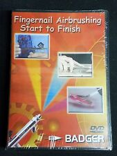 BADGER BD-105 Fingernail Airbrush Technique Start To Finish DVD New